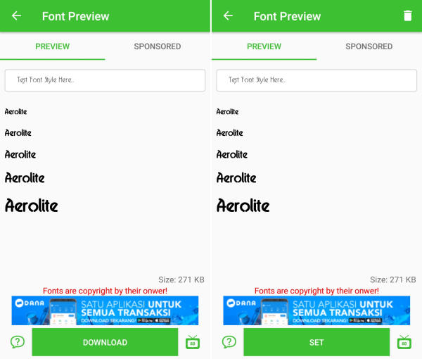 download font style Huawei P30