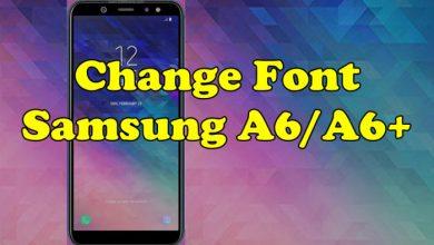 Change Font Samsung A6