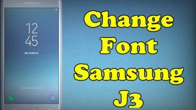 Change Font Samsung J3