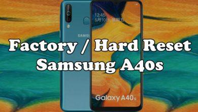Factory Hard Reset Samsung A40s