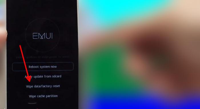 Huawei eRecovery Wipe Data