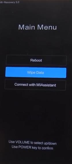 Mi Recovery Wipe Data Redmi Note 5A