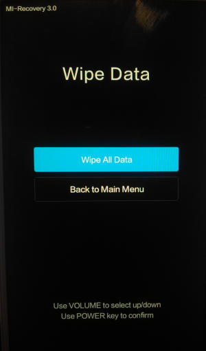 Wipe All Data Mi Recovery