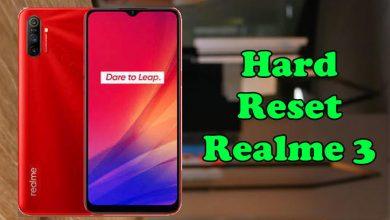 Reset Realme 3