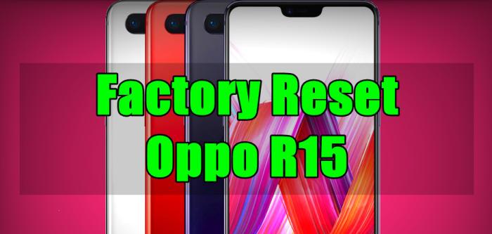 Reset Oppo R15